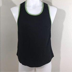 Men's Black & Green Go Softwear Tank Top Large